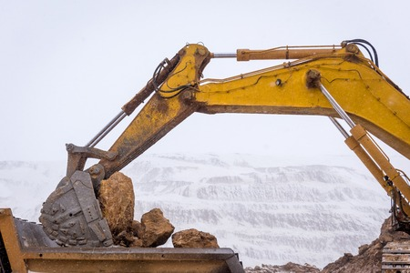 Truck loading with ore