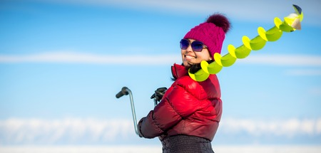 Woman, holding fishing equipment
