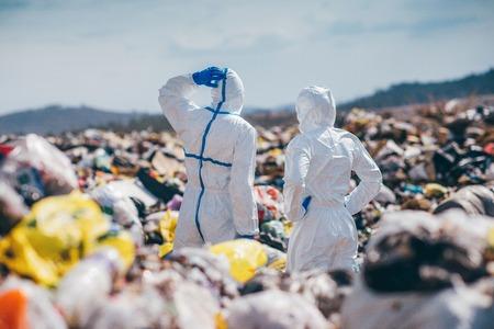 埋め立て地の研究労働者をリサイクル