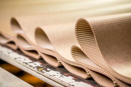 carton processing at a factory Stockfoto