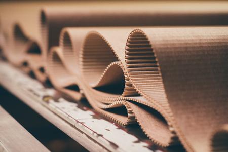 carton processing at a factory Zdjęcie Seryjne