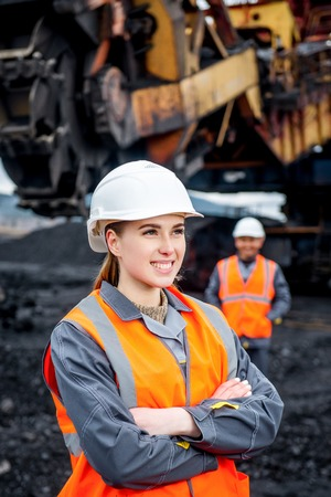 Coal mining workers Stok Fotoğraf
