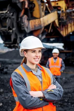 Coal mining workers Standard-Bild