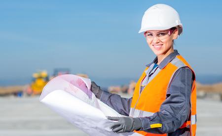 worker plan engineer Stock Photo
