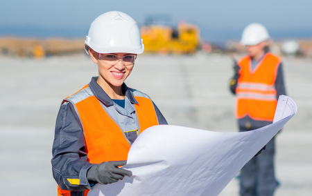 Werknemer plan ingenieur Stockfoto