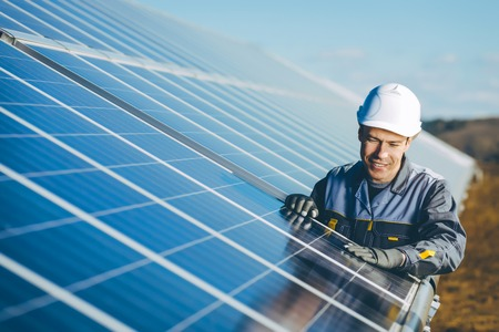 elektrownia słoneczna Zdjęcie Seryjne