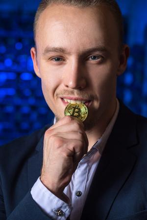 miner bitcoin cryptocurrency Stock Photo