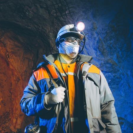 miner underground mining gold Stockfoto