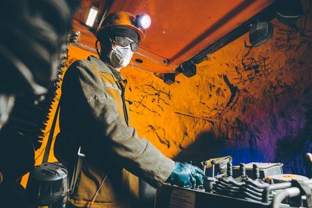 miner underground mining gold 写真素材