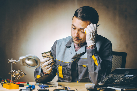 service repair electronics Reklamní fotografie