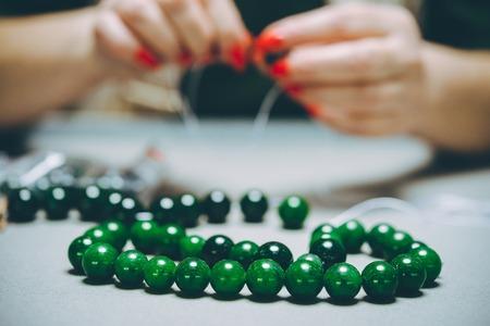 greenstone industrial jewelery Reklamní fotografie