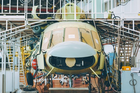 helicopter aviation plant Stockfoto
