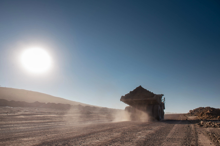 camion de mine de charbon