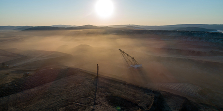 Coal mining in open pit 版權商用圖片