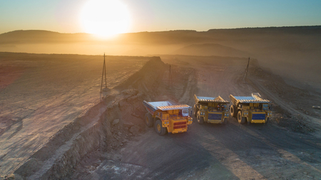 coal mining truck Standard-Bild