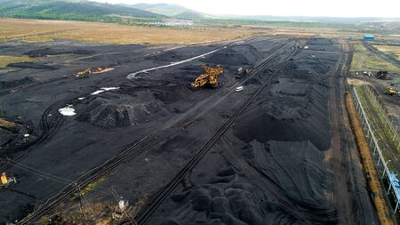 Coal mining from above industry