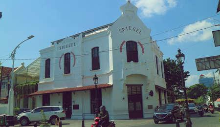 Spiegel resto building in the corner of the Old City of Semarang 版權商用圖片