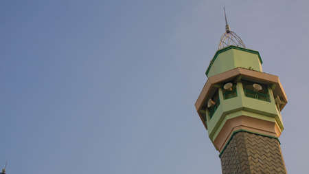 mosque tower photo with a sky background