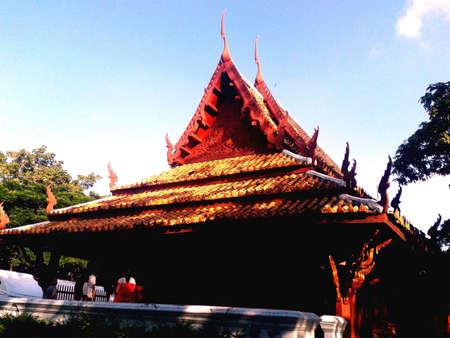 art: Thai art buildind Stock Photo