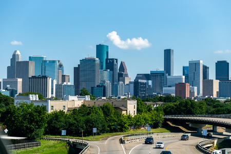Cityscape of Downtown Houston Texas from the Southside 版權商用圖片