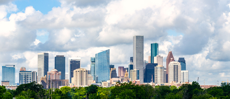 Cityscape of downtown Houston Texas from the Northeast side 版權商用圖片