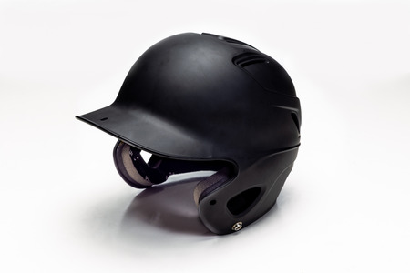Baseball helmet on a white background. 版權商用圖片