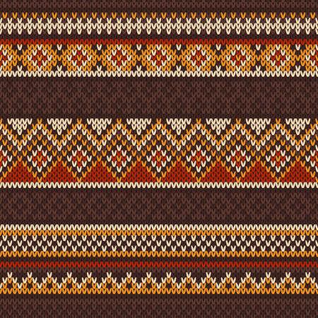 Kleurrijke naadloze patroon op de wol gebreide textuur Stock Illustratie