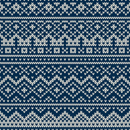fair: Nordic traditional Fair Isle style seamless pattern on the wool knitted texture