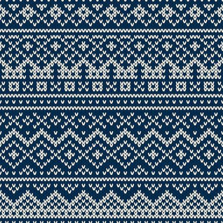 fair isle: Nordic tradizionale stile Fair Isle senza soluzione di modello in maglia di lana trama