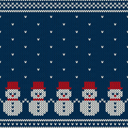 ornamental background: Winter Holiday Seamless Pattern