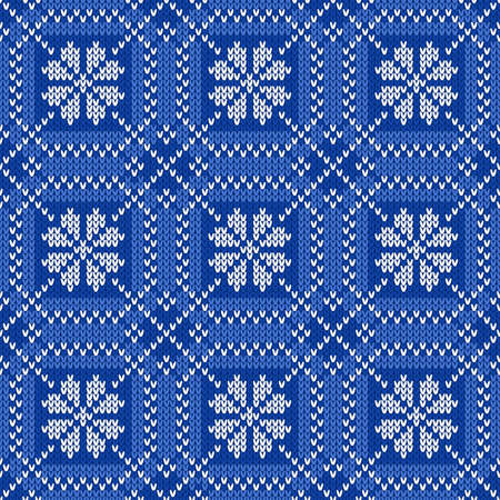 an island tradition: Seamless pattern on the wool knitted texture