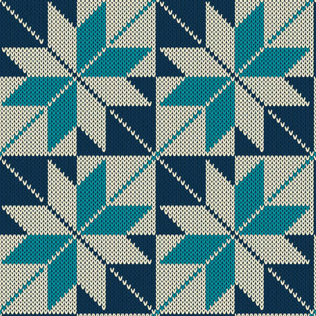 Vintage style knitting seamless pattern