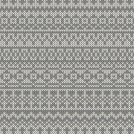 fair isle: Knitted seamless pattern in traditional Fair Isle style Illustration