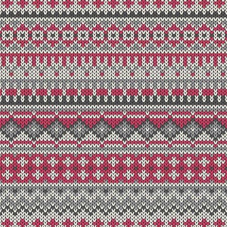 fair isle: Reticolo lavorato a maglia senza soluzione di continuit� nel tradizionale stile Fair Isle