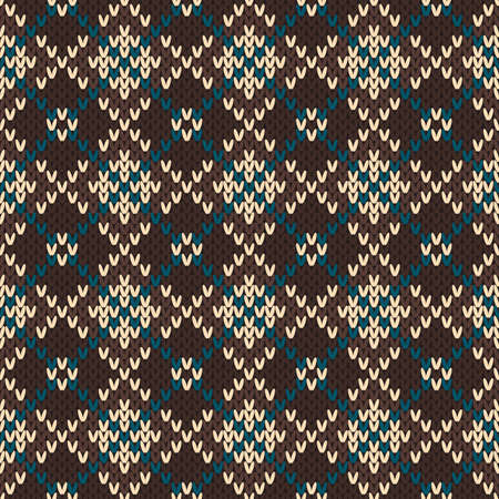 fair isle: Seamless pattern on the wool knitted texture