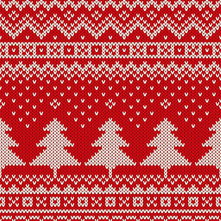 Seamless winter holiday knitted pattern. Christmas Background