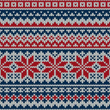 Winter Holiday Nahtloses gestricktes Muster Standard-Bild - 33143087