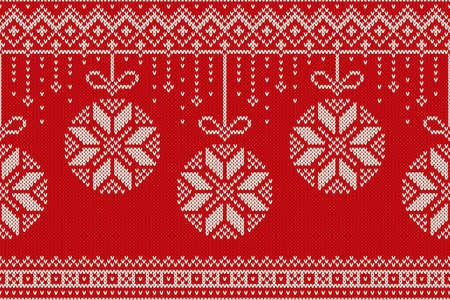 Winter Holiday Seamless Knitting Pattern. Christmas and New Year vector seamless background Çizim