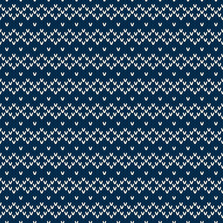 Winter Holiday Seamless Knitted Pattern Vector