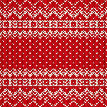 Nordic traditional Fair Isle style seamless knitted pattern Vector