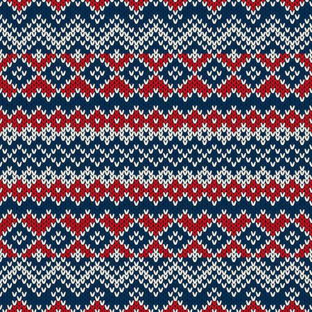 Nordic traditional Fair Isle style seamless knitted pattern