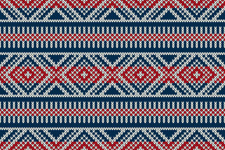 Seamless Knitted Pattern. Winter Holiday Sweater Design