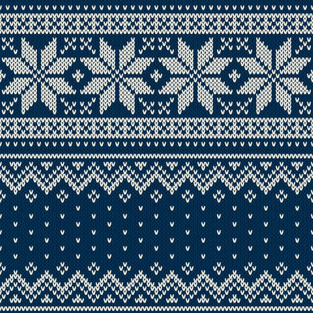 Sweater van Kerstmis Design. Naadloze Patroon Stock Illustratie