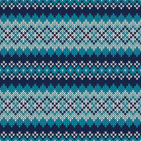 fair isle: Seamless ornamento sulla lana lavorato a maglia Seamless Fair Isle maglia modello. Festive e moda maglione design. EPS disponibili