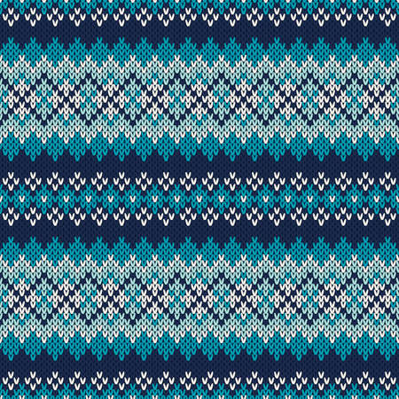 Seamless pattern ornament on the wool knitted Seamless Fair Isle Knitted Pattern. Festive and Fashionable Sweater Design. EPS available Vector