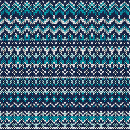 Knitted Seamless Pattern In Traditional Fair Isle Style Royalty ...