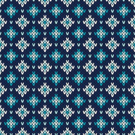 fair isle: Seamless Fair Isle maglia Pattern. Festive e moda maglione design Vettoriali