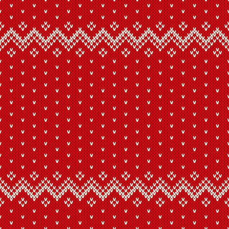retro christmas: Christmas Sweater Design. Seamless Pattern