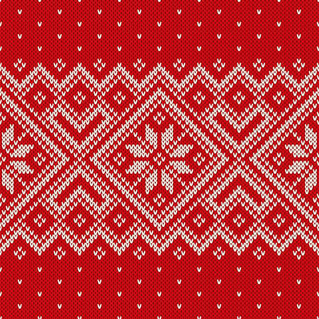 Christmas sweater design on the wool knitted texture. Seamless pattern Çizim