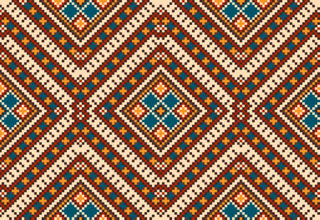 Seamless pattern in Traditional Tribal Aztec style. Ethnic ornament